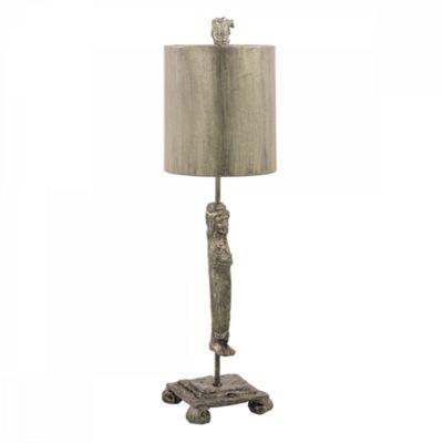 Aged Silver Silver Table Lamp - 1 x 60W E27