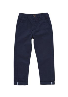 F&F Slim Fit Chino Trousers Navy 5-6 years