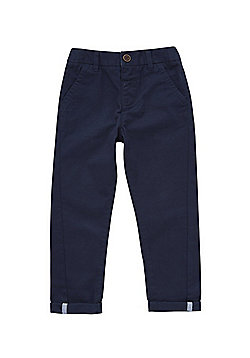 F&F Slim Fit Chino Trousers - Navy