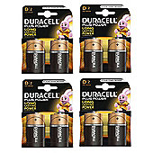 8 X Duracell MN1300 Plus Power D Size Batteries