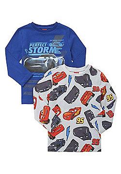 Disney Cars 2 Pack of Jackson Storm Long Sleeve T-Shirts - Blue & Grey