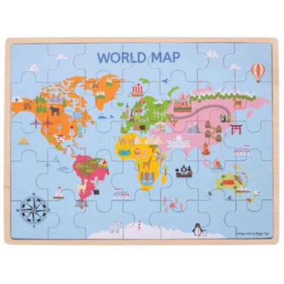Buy bigjigs toys wooden world map puzzle 35 pieces from our pre bigjigs toys wooden world map puzzle 35 pieces gumiabroncs Gallery