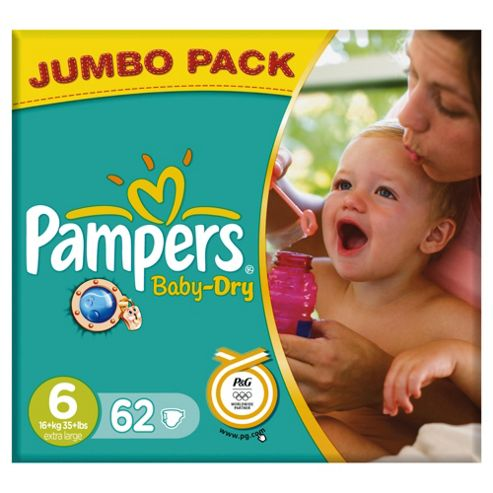 Pampers Baby Dry Jumbo Extra Large 62