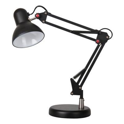 Retro Style Adjustable Desk Lamp, Black