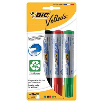 Bic Velleda Whiteboard Markers 4 Pack