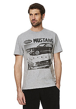 Ford Mustang Print T-Shirt - Grey