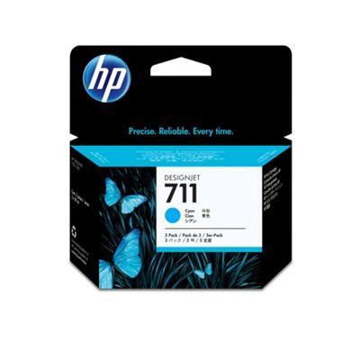 HP 711 3-pack Ink Cartridges - Cyan
