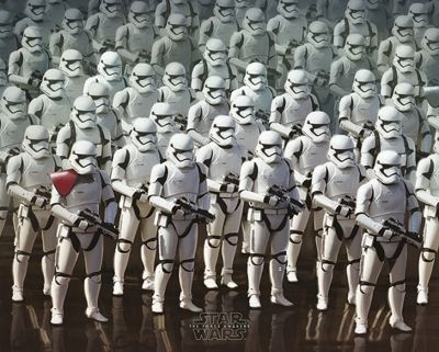 Star Wars Episode VII Stormtrooper Army Mini Poster