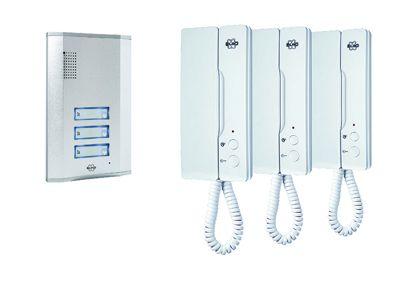 Byron Audio Door Intercom For 3 Apartments