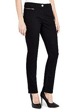 Wallis Petite Harper Straight Leg Jeans - Black