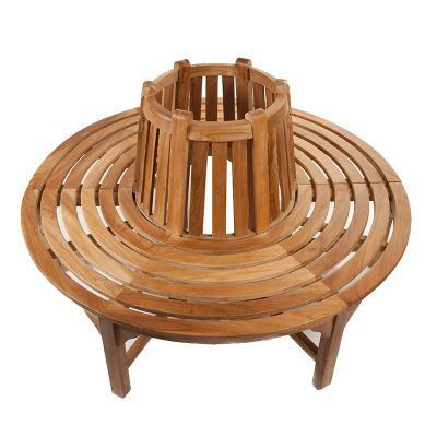 BrackenStyle Full Round Tree Teak Seat/Bench