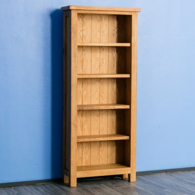 Surrey Oak Bookcase Slim Rustic