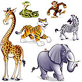 Jungle Party Jungle Animal Add-Ons - 6 pack