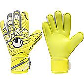Uhlsport Eliminator Soft Supportframe Goalkeeper Gloves Size - Yellow
