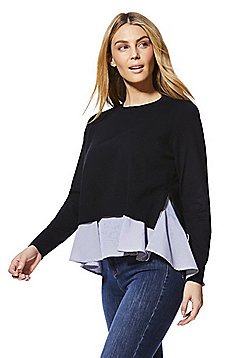 Only Mixed Pullover 2 in 1 Jumper - Blue