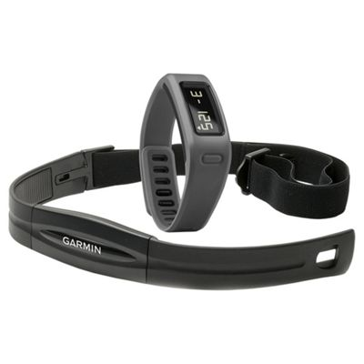 Garmin Vivofit Fitness Tracker with Heart Rate Monitor Band - Slate