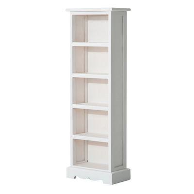 Homcom Wooden DVD Media Storage Cabinet Unit 5 Tiers 115 CD Rack - White