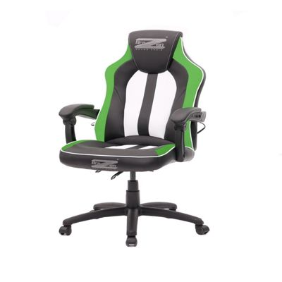 BraZen Stealth 4.0 Surround Sound Bluetooth PC Gaming Chair Black/Green