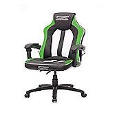 BraZen Stealth 4.0 Surround Sound Bluetooth PC Gaming Chair Black/Green