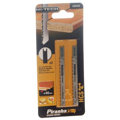 BLACK+DECKER Jigsaw Blades (2) Wood 100 mm. X25542