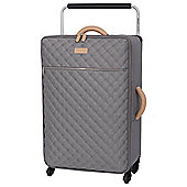 IT Luggage Tritex Quilted 4 wheel Grey Medium Suitcase