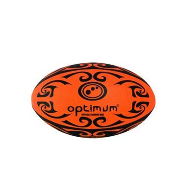 Optimum Tribal Mini Rugby League Union Ball Orange/ Black - Mini