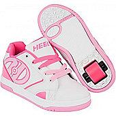 Heelys Propel 2.0 White/Hot Pink/Light Pink Kids Heely Shoe UK 2