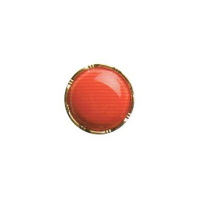 Hemline Red with Gold Rim Buttons 17.5mm 3pk