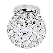 Garfield IP44 Bathroom Ceiling Light, Chrome