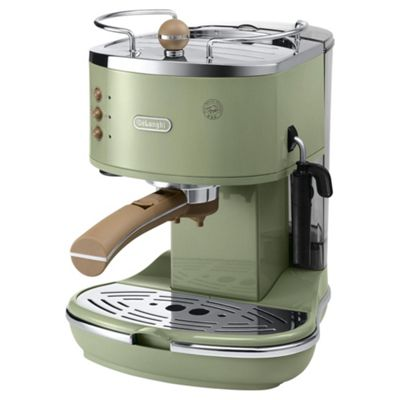 DeLonghi Vintage Icona ECOV311.GR F14 Pump Espresso Coffee Machine, Green