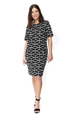 Evans Printed Plus Size Shift Dress Multi 22