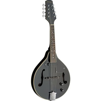 Stagg Black Acoustic-Electric Bluegrass Mandolin with N