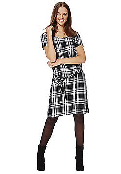 Only Checked Tunic Dress - Black & White