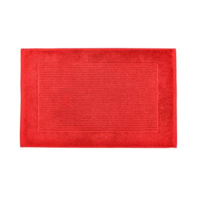Homescapes Imperial Plain Bath Mat Red