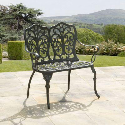 Sussex Black Cast Aluminium Garden Bench