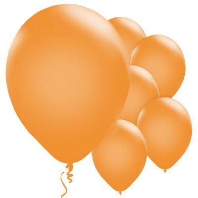 Metallic Orange 11 inch Latex Balloons - 25 Pack
