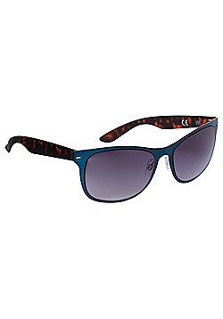 F&F Tortoiseshell-Effect Arm Sunglasses Blue & Brown