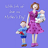 Holy Mackerel Mother's Day lots of love Greetings Card