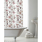 Country Club Shower Curtain Butterfly Pink 180 x 180cm