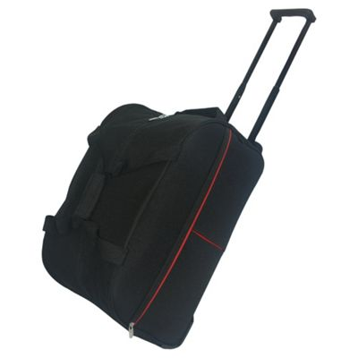 Tesco 2-Wheel Travel Holdall, Black