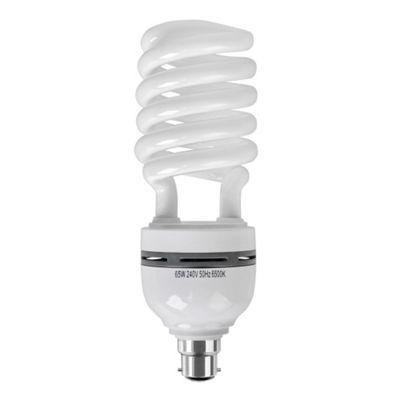 Minisun 65W BC B22 Energy Saving Daylight Spiral Bulb 6500K