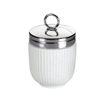 DRH Egg Coddler/Egg Poacher in Embossed White Stripes Design 990112G+1567