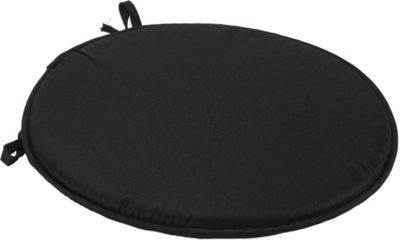 Black Round Seat Pad Cushion With Ties Pack Of 2