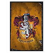 Harry Potter Gloss Black Framed Gryffindor Flag Poster