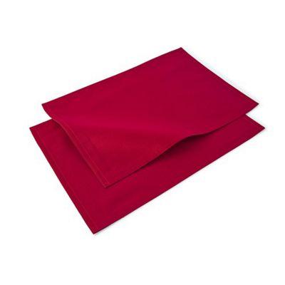 Blue Canyon Plain Festive Placemat Set - Red