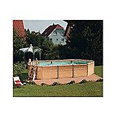 Zodiac Azteck Maxiwood Oval Wooden Pool 4m x 7.2m