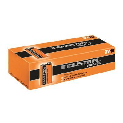 10 x 9V Duracell Industrial MN1604 E-Block Alkaline Batteries