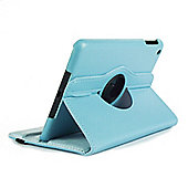 Rotating PU Leather Case for Apple iPad Mini 1, 2 & 3 - Light Blue