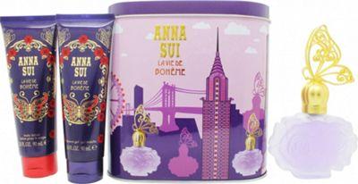 Anna Sui La Vie de Boheme Gift Set 50ml EDT + 100ml Body Lotion + 100ml Shower Gel + Music Box For Women