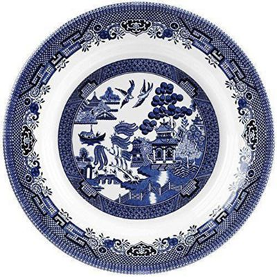 Churchill Blue Willow Oval Dish 37cm